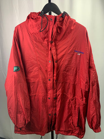 VTG Polo Sport Trench Pepsi Jacket Size L