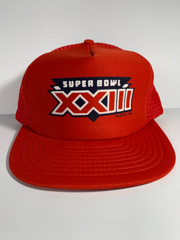 Vintage super bowl 23 trucker Snapback hat