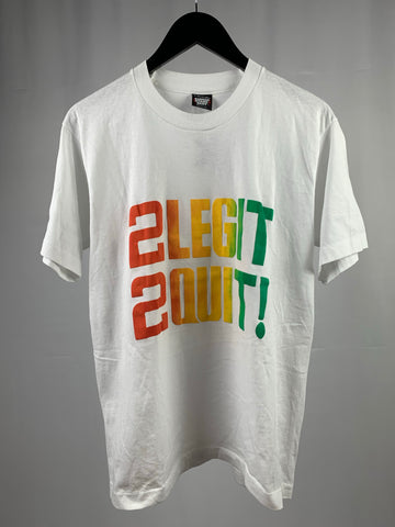 Vintage 2 Legit 2 Quit Tee fits Medium
