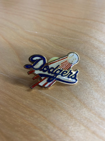 Dodgers Flying Baseball Pin