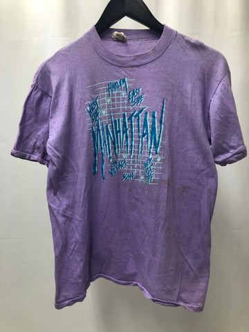 Vintage Purple Manhattan Tee SZ Small