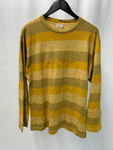 Vintage Guess Striped Autumn L/S Tee Fits Sm/ Med