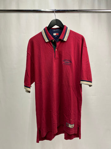 Vintage Maroon Tommy athletics polo Size XL