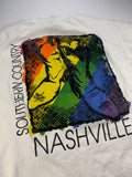 Vintage Southern Country Nashville Rainbow tee size large