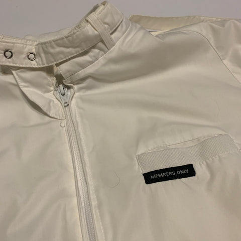 Vintage White Members Only Jacket Sz L