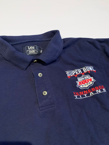 Vintage Tennessee Titans Super Bowl Polo shirt size xxl