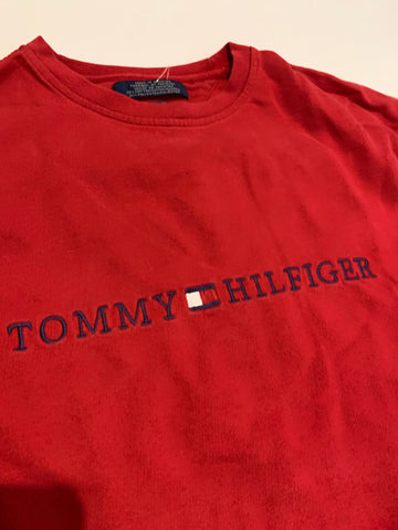 Vintage Tommy Hilfiger Red Long Sleeve tee size large