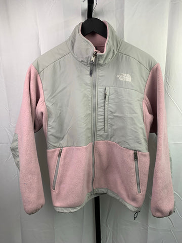 The North Face Grey/Pink Fleece Jacket Sz Wmns Med