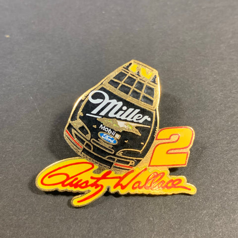 Vintage Rusty Wallace Miller Car Pin