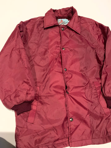Vintage Maroon Trench Jacket size small