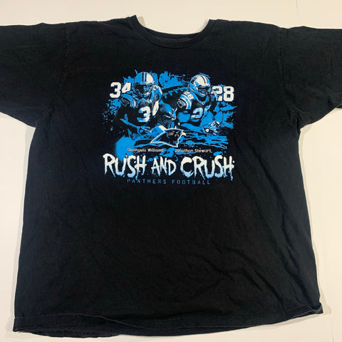 Carolina Panthers Rush and Crush Tshirt Sz XXL