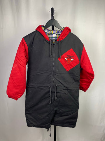 VTG Chicago Bulls Extended Bubble Coat SZ YXL