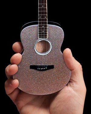 Axe Heaven Glitter Rhinestone Taylor Swift Style Acoustic Miniature Guitar Replica - Megatone Music