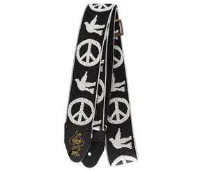 Ace Vintage Reissue Peace and Dove Guitar Strap by D'Andrea - Made in the USA - Megatone Music