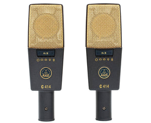 AKG C414 XII/ST Large-Diaphragm Matched Pair Studio Condenser Microphones Microphones AKG