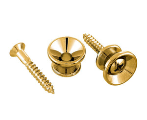 Allparts Gold Strap Buttons with Screws