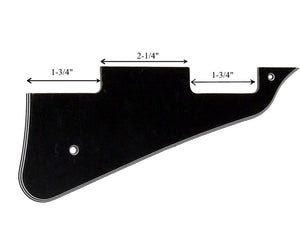 Allparts Black 3-Ply Les Paul Custom Pickguard - Megatone Music