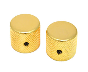 Allparts MK-0115-002 Gold Barrel Knobs, Pack of 2