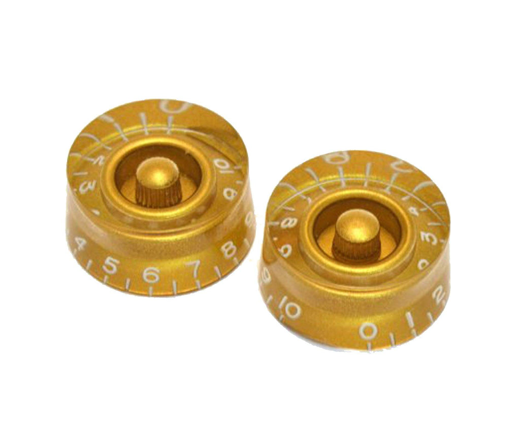 Allparts Gold Vintage Style Speed Knobs for Les Paul Style Guitars - Megatone Music