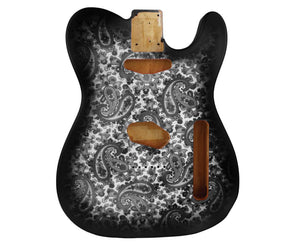 Allparts Black Paisley Finished Telecaster Replacement Body - Megatone Music