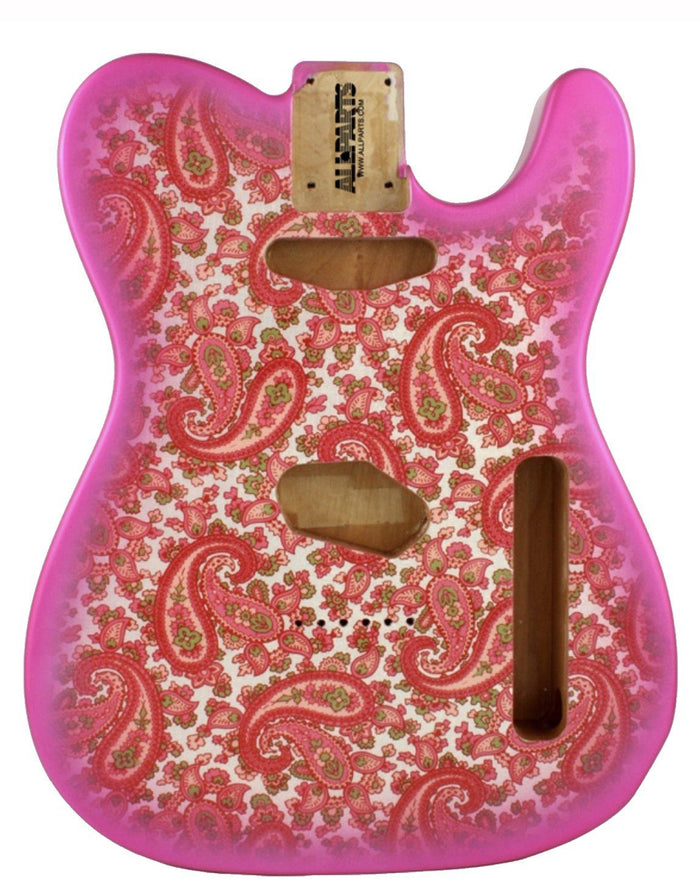 Allparts Pink Paisley Finished Telecaster Replacement Body