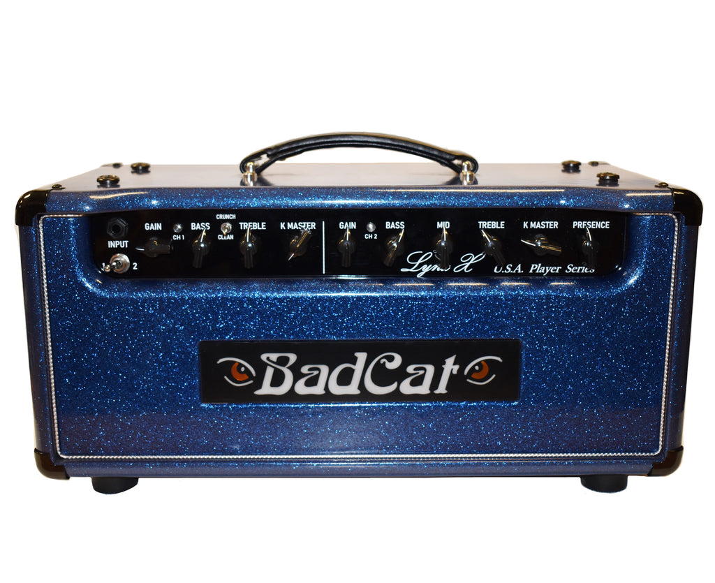 Bad Cat Amps USA Player Series Lynx X 40w Amplifier Head in Blue Sparkle