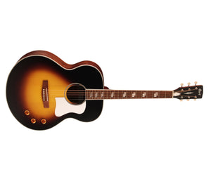 Cort CJ Retro Acoustic-Electric Guitar in Matte Vintage Sunburst - Megatone Music