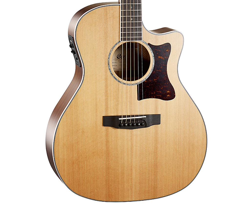 Cort Grand Regal Solid Cedar Top Acoustic-Electric Guitar GA5FBWNS-U - Megatone Music