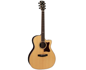 Cort Grand Regal Solid European Spruce Top Acoustic-Electric Guitar GA5FPFNAT-U