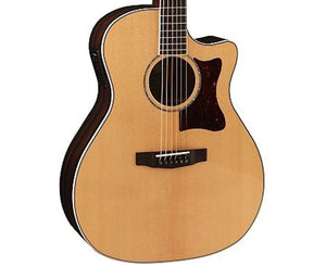 Cort Grand Regal Solid European Spruce Top Acoustic-Electric Guitar GA5FPFNAT-U - Megatone Music