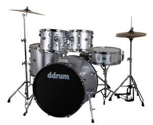 ddrum D2 Complete 5-Piece Drum Kit w/Cymbals in Brushed Silver Drum Kits DDrum