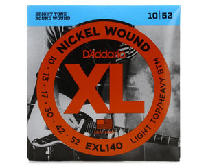 D'Addario EXL140 Electric Guitar Strings 10-52 Light Top/Heavy Bottom - Megatone Music