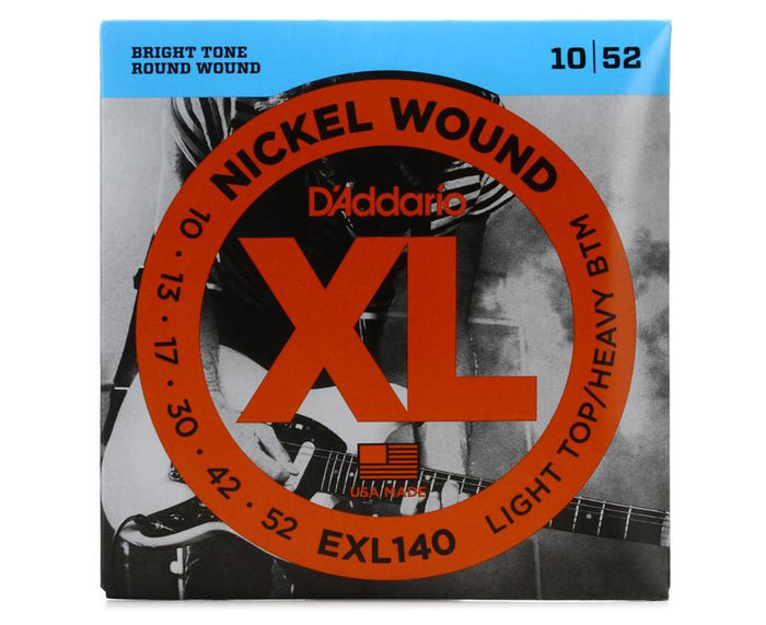 D'Addario EXL140 Electric Guitar Strings 10-52 Light Top/Heavy Bottom