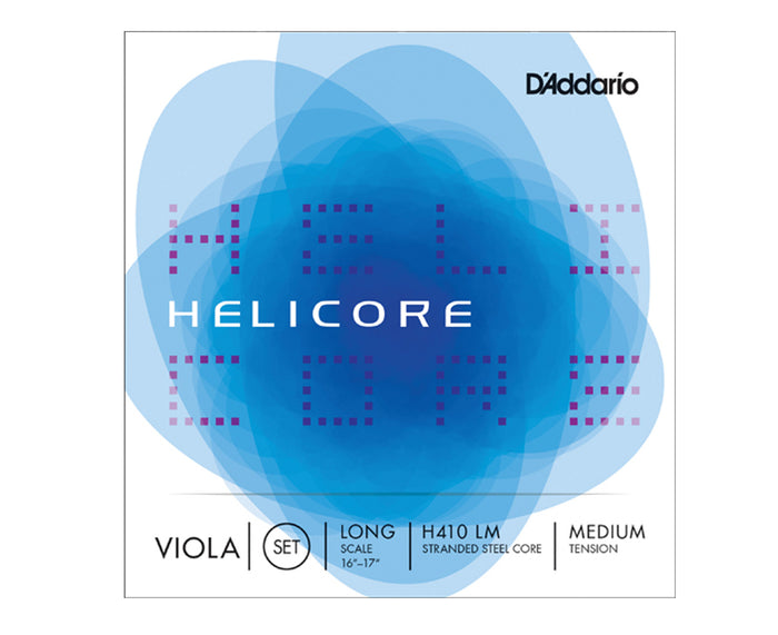 D'Addario Viola Helicore Set Long Scale, H410 LM Medium Tension