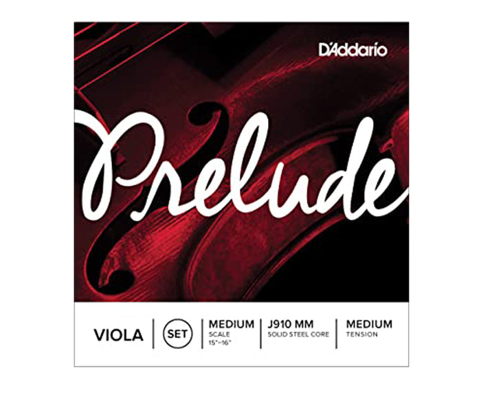 D'Addario Viola Prelude J910 MM Medium Scale and Tension