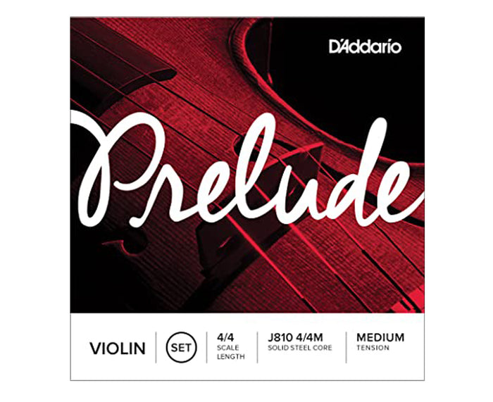 D'Addario Violin Prelude Set 4/4 Medium, J810 4/4M