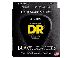 DR Strings BRB-45 Black Beauties Bass Strings - Extra-Life, Black-Coated - Megatone Music