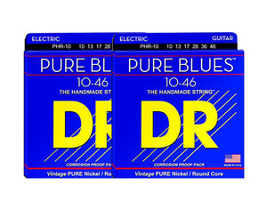 DR Strings Pure Blues PHR-10 Electric Guitar Strings 2-Pack - Megatone Music