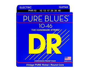 DR Strings Pure Blues PHR-10 Electric Guitar Strings - Megatone Music
