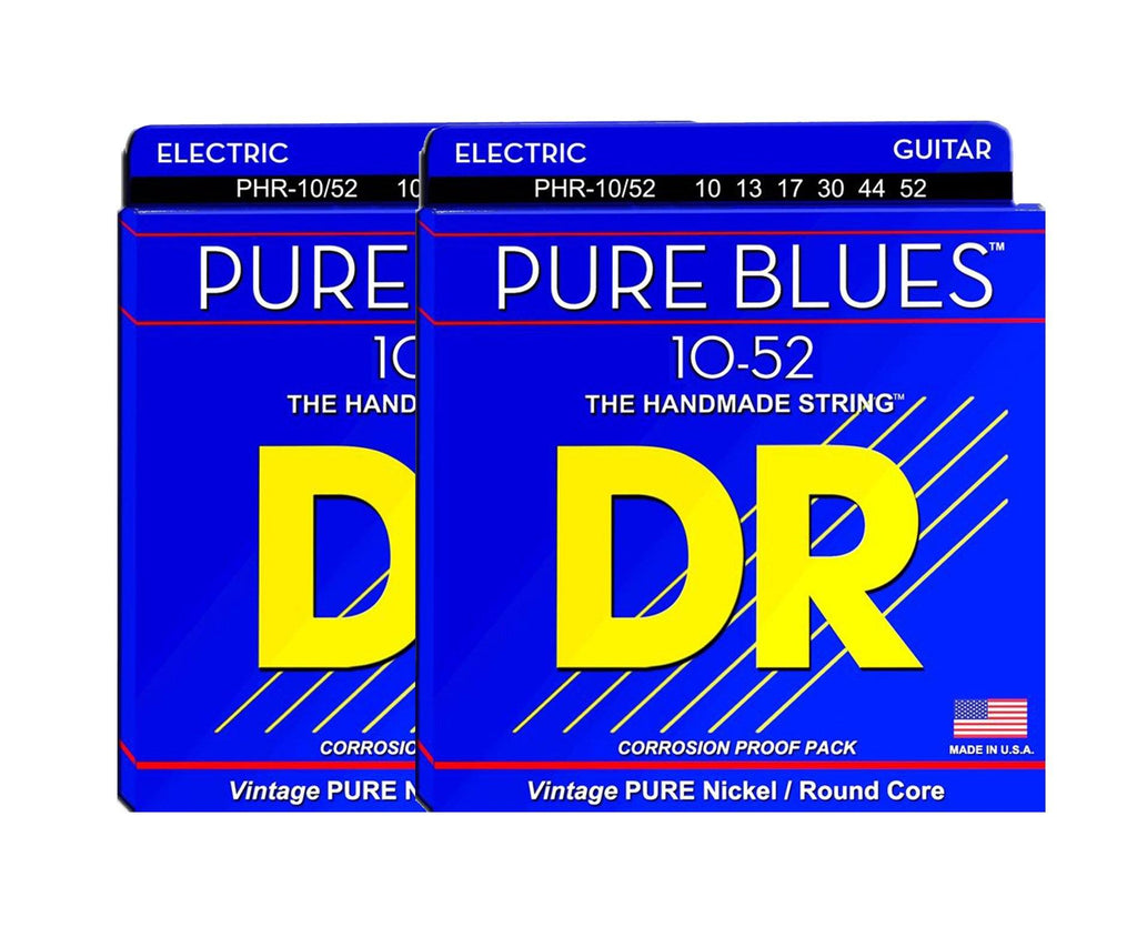 DR Strings Pure Blues PHR-10/52 Electric Guitar Strings 2-Pack - Megatone Music