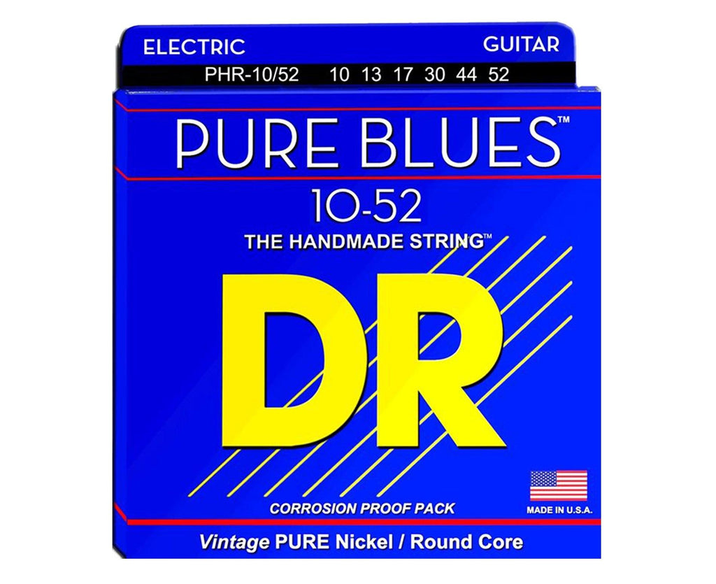 DR Strings Pure Blues PHR-10/52 Electric Guitar Strings - Megatone Music