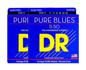 DR Strings Pure Blues PHR-11 Electric Guitar Strings 2-Pack - Megatone Music