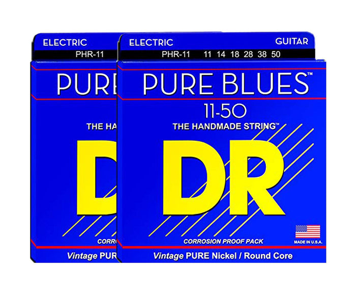 DR Strings Pure Blues PHR-11 Electric Guitar Strings 2-Pack