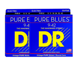 DR Strings Pure Blues PHR-9 Electric Guitar Strings 9-42 Double Pack Electric Guitar Strings DR Strings