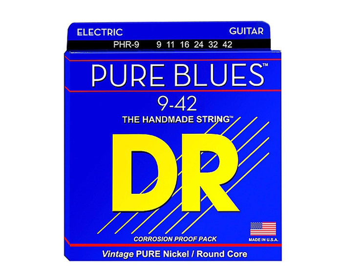 DR Strings Pure Blues PHR-9 Electric Guitar Strings 9-42