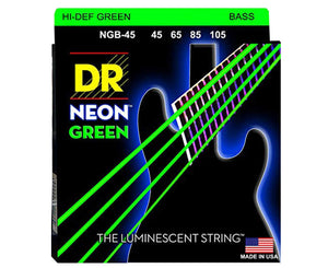 DR Strings NGB-45 Hi-Def Neon Green Bass Strings - Megatone Music