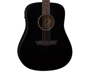 Dean AXS Dreadnaught A/E Acoustic-Electric Guitar in Classic Black Acoustic Dean