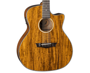 Dean AXS Exotic Koa Cutaway Acoustic-Electric Guitar Acoustic Dean