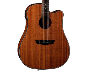 Dean AXS Dreadnaught Cutaway A/E Acoustic-Electric Guitar in Mahogany Acoustic Dean