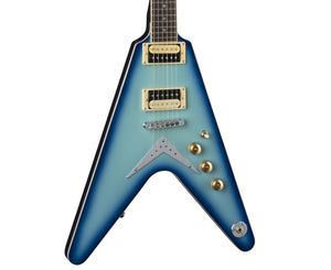 Dean V 79 Electric Guitar in Blue Burst